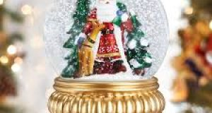 christmas snow globe battery operated